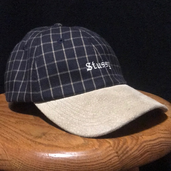 Stussy Other - nwot stussy suede checkered dad hat